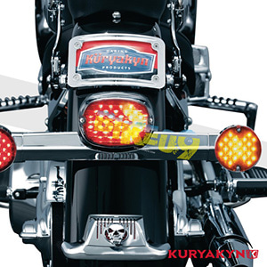 쿠리야킨 할리 튜닝 부품 소프테일 (94-10) Low Profile Panacea Taillight, Red with License Plate Illumination 테일라이트 5424