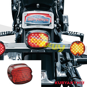 쿠리야킨 할리 튜닝 부품 다이나 (01-11) Low Profile Panacea Taillight, Red with License Plate Illumination 테일라이트 5424
