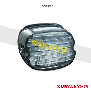 쿠리야킨 할리 튜닝 부품 스포스터 (02-13) Low Profile Panacea Taillight, Smoke with License Place Illumination 테일라이트 5426
