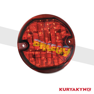 쿠리야킨 할리 튜닝 부품 투어링 (94-13) Panacea Rear Turn Signal Inserts, Flat Style with Red Lenses 테일라이트 5428