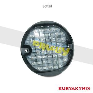쿠리야킨 할리 튜닝 부품 소프테일 (94-10) Panacea Rear Turn Signal Inserts, Flat Style with Smoke Lenses 테일라이트 5429