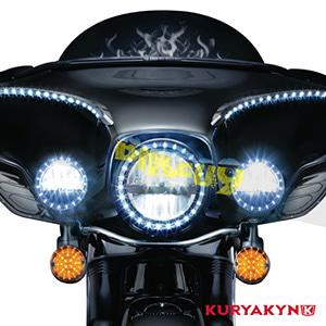 쿠리야킨 할리 튜닝 부품 소프테일 (94-17) L.E.D. Front Turn Signal Inserts, Flat Style with Amber Lenses, Dual Circuit 테일라이트/LED 테일라이트 깜빡이 5440