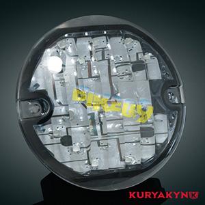 쿠리야킨 할리 튜닝 부품 투어링 (94-19) L.E.D. Front Turn Signal Inserts, Flat Style with Smoke Lenses, Dual Circuit 테일라이트/LED 테일라이트 깜빡이 5441