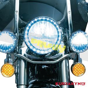 쿠리야킨 할리 튜닝 부품 소프테일 (94-17) L.E.D. Front Turn Signal Inserts, Flat Style with Smoke Lenses, Dual Circuit 테일라이트/LED 테일라이트 깜빡이 5441