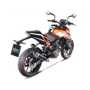 레오빈스 KTM 듀크125 슬립온 GP ONE 이녹스 매트 이녹스 (17-18) 오토바이 머플러
