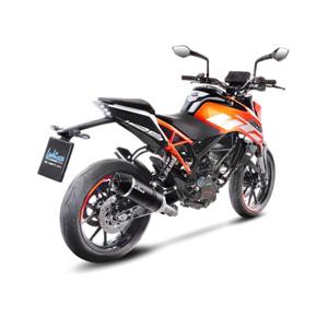 레오빈스 KTM 듀크125 슬립온 LV ONE EVO 카본 매트 카본 (17-18) 오토바이 머플러