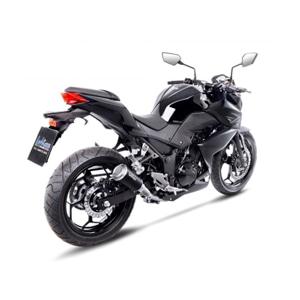 레오빈스 가와사키 Z300/ABS 슬립온 LV10 BLACK 이녹스 매트 이녹스 (15-16) 오토바이 머플러