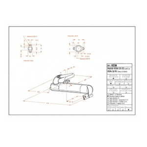 레오빈스 베스파125 ET3 MOD 50/90 풀 시스템 시토 스틸 매트 오토바이 머플러
