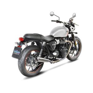 레오빈스 트라이엄프 스트리트트윈900 2 슬립온 클래식 이녹스 SCOTCH 브라이트 이녹스 (16-17) 오토바이 머플러