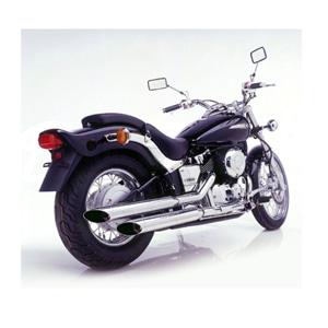 레오빈스 야마하 XVS650 드래그스타 슬립온 실버테일 크롬 스틸 (97-03) 오토바이 머플러