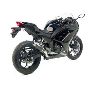 레오빈스 가와사키 닌자300R/ABS 풀 시스템 GP CORSA 카본 글로시 이녹스 (13-16) 오토바이 머플러