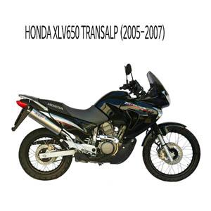 미브 XLV650 트랜스앨프 티탄 머플러 슬립온 (2005-2007) 오벌 혼다