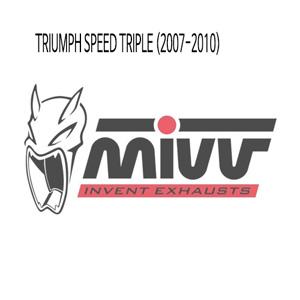 미브 스피드 트리플 메니폴더 스틸 헤드파이프 (2007-2010) 머플러 트라이엄프
