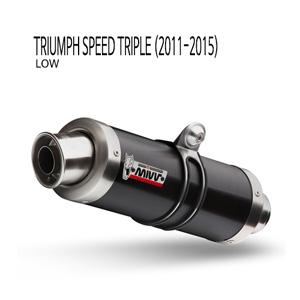 미브 트라이엄프 블랙 스틸  (low) GP 슬립온 머플러 스피드 트리플 (2011-2015)