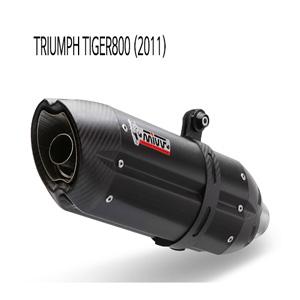 미브 타이거800 수오노 블랙 스틸 슬립온 (2011) 머플러 트라이엄프