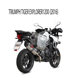 미브 타이거 익스플로러1200 트라이엄프 (2016) 스피드엣지 스틸 슬립온 머플러