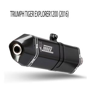 미브 타이거 익스플로러1200 블랙 스틸 슬립온 머플러 트라이엄프 (2016) 스피드엣지