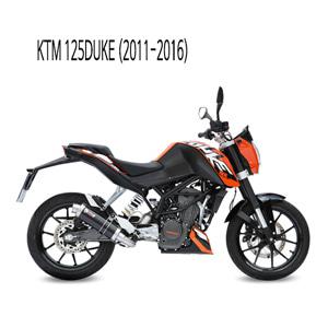 미브 125듀크 GP 블랙 스틸 풀시스템 머플러 KTM (11-16)