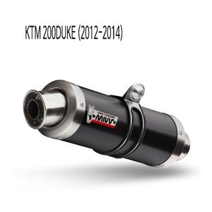 미브 200듀크 (2012-2014) GP 블랙 스틸 풀시스템 머플러 KTM