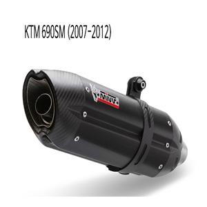 미브 690SM (07-12) 수오노 블랙 스틸 슬립온 머플러 KTM