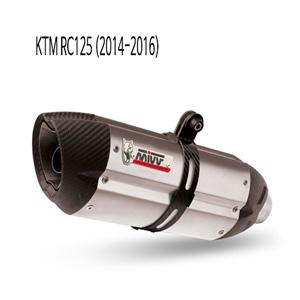 미브 RC125 (2014-2016) 수오노 스틸 풀시스템 머플러 KTM