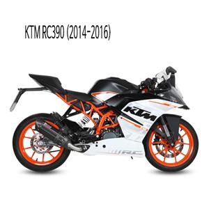 미브 RC390 수오노 블랙 스틸 풀시스템 머플러 KTM (2014-2016)