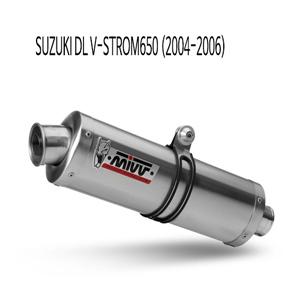 미브 DL 브이스톰650 2004-2006 머플러 스즈키 오벌 스틸 슬립온