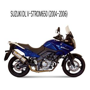 미브 DL 브이스톰650 (04-06) 수오노 스틸 슬립온 머플러 스즈키