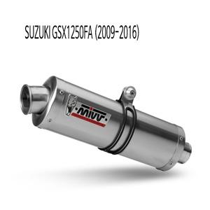 미브 GSX1250FA 오벌 스틸 (2009-2016) 슬립온 머플러 스즈키