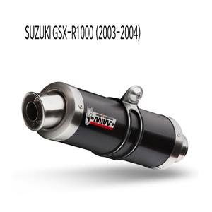 미브 (2003-2004) GP 블랙 스틸 슬립온 머플러 스즈키 GSX-R1000