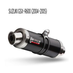 미브 (2004-2005) GSX-R600 GP 블랙 스틸 슬립온 머플러 스즈키