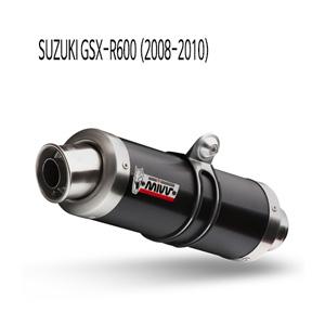 미브 2008-2010 GP 블랙 GSX-R600 스틸 슬립온 머플러 스즈키