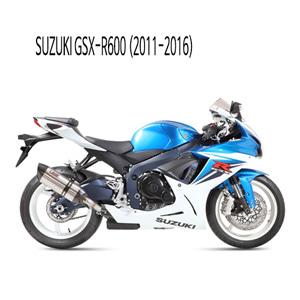 미브 2011-2016 GSX-R600 수오노 스틸 슬립온 머플러 스즈키
