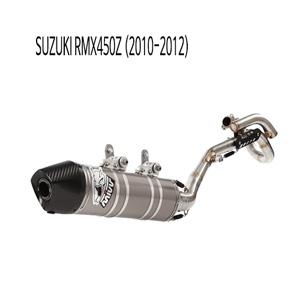 미브 RMX450Z (2010-2012) 오벌 스틸 풀시스템 머플러 스즈키