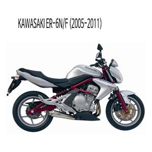 미브 ER-6N/F 머플러 가와사키 (2005-2011) 엑스콘 스틸 슬립온