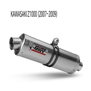 미브 Z1000 (07-09) 머플러 오벌 스틸 슬립온 가와사키