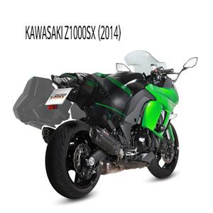 미브 Z1000SX 수오노 블랙 스틸 슬립온 머플러 가와사키 (2014)