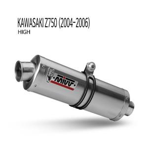 미브 Z750 (04-06) high 오벌 스틸 슬립온 머플러 가와사키
