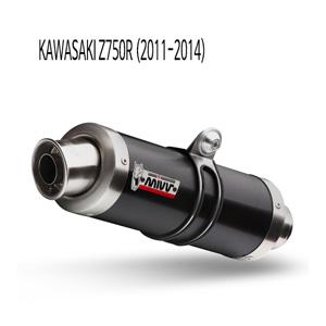 미브 Z750R (11-14) GP BLACK 스틸 슬립온 머플러 가와사키
