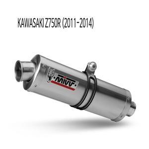 미브 Z750R (11-14) 오벌 스틸 슬립온 머플러 가와사키