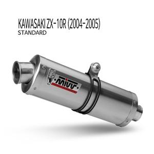 미브 ZX-10R (04-05) 오벌 스틸(standard) 슬립온 가와사키 머플러