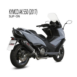 미브 머플러 KYMCO AK 550 (2017) OVAL BLACK BLACK STAINLESS STEEL WITH CARBON CAP 슬립온