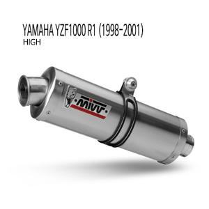 미브 YZF R1 1998-2001 머플러 오벌 스틸(high) 슬립온 야마하