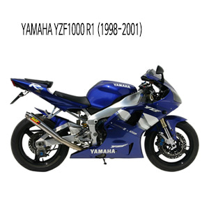미브 YZF R1 엑스콘 (1998-2001) 스틸 슬립온 머플러 야마하