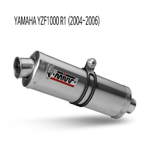 미브 YZF R1 04-06 오벌 스틸 슬립온 머플러 야마하