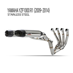 미브 YZF R1 스틸 풀시스템 머플러 야마하 (2009-2014)