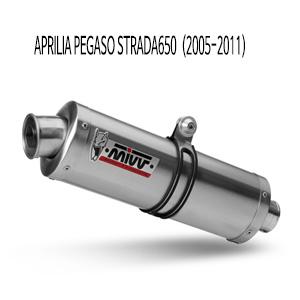 미브 페가소 스트라다650 (05-11) 오벌 스틸 슬립온 머플러 아프릴리아