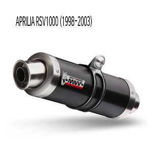 미브 RSV1000 (1998-2003) GP 블랙 스틸 슬립온 머플러 아프릴리아