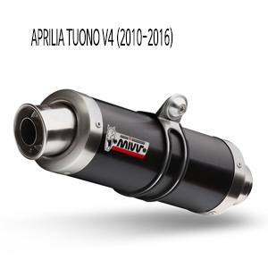 미브 투오노 V4 GP 블랙 스틸 슬립온 (2010-2016) 머플러 아프릴리아
