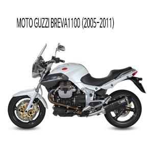 미브 브레바1100 스피드엣지 블랙 스틸 (2005-2011) 슬립온 머플러 모토 구찌